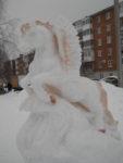 «Крылатый конь» — победитель конкурса снежных фигур «Лымы муртъёс»!